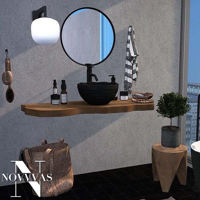 Sims 4 RUSTIC BATHROOM at Novvvas