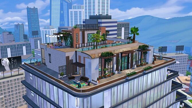 Sims 4 Overlade penthouse by Bloup at Sims Artists
