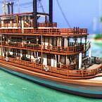 Floating Restaurant Vintage Boat By Plumbobkingdom