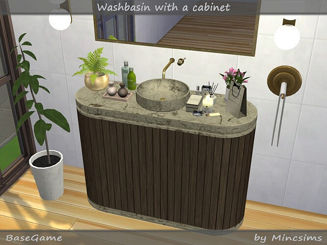 Washbasin With Cabinet By Mincsims