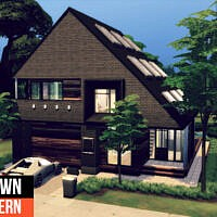 Brown Modern Home By Genkaiharetsu
