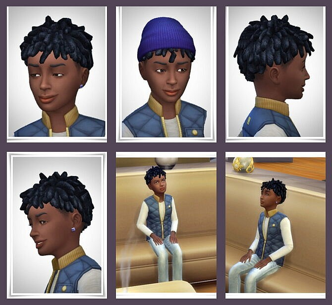 Sims 4 Buddy Dreads for Kids at Birksches Sims Blog