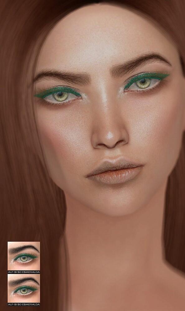 Sims 4 Esmeralda eyebrows 50 a + b HQ at Alf si