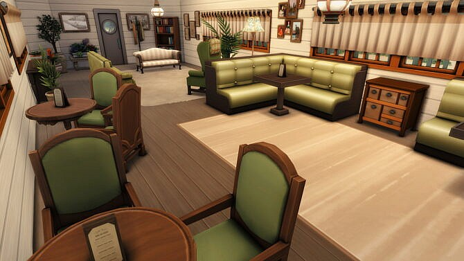Sims 4 Floating Restaurant Vintage Boat by plumbobkingdom at Mod The Sims 4