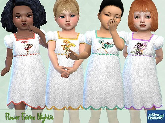 Sims 4 Flower Fairies Nightie by Pelineldis at TSR