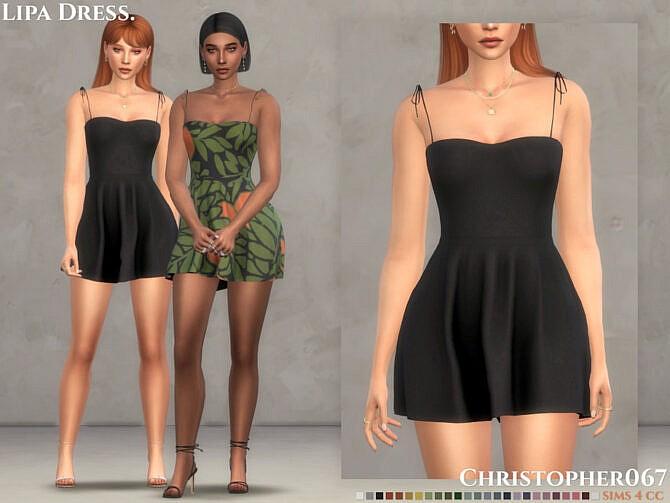 Sims 4 Lipa Dress by Christopher067 at TSR