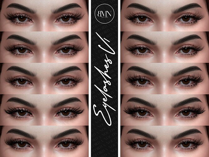 Sims 4 3D Eyelashes V1 at MURPHY