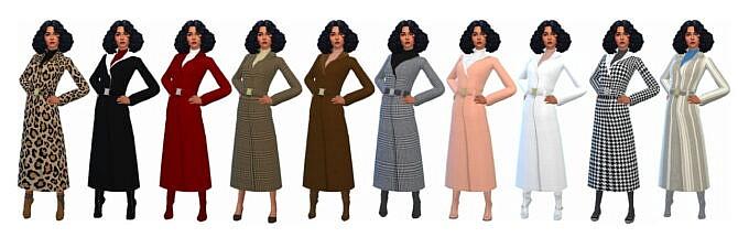 Sims 4 SIMALICIOUS' LONG COAT at Sims4Sue
