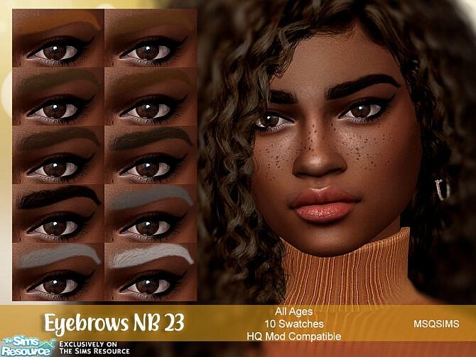 Sims 4 Eyebrows NB23 at MSQ Sims