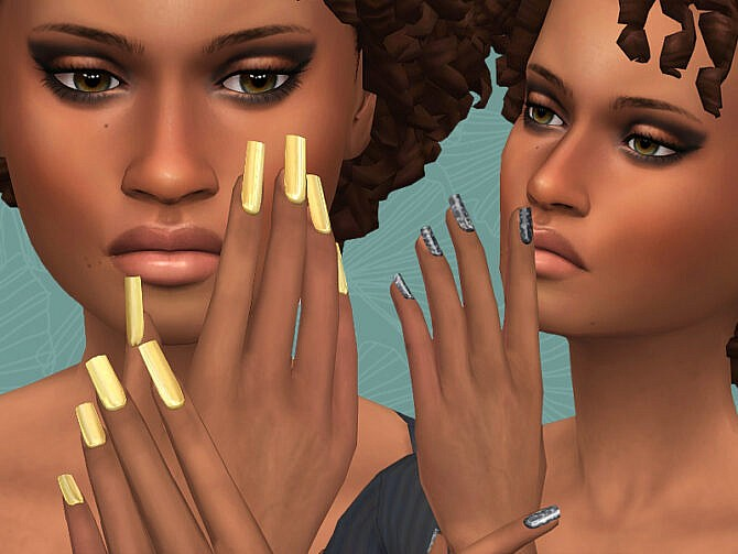 Sims 4 Shine nails collection at Frenchie Sim