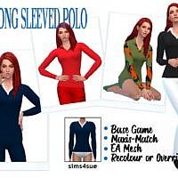 Bg Long Sleeved Polo