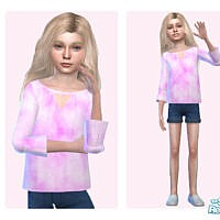 Tie Dye Baggy Top By Pinkfizzzzz