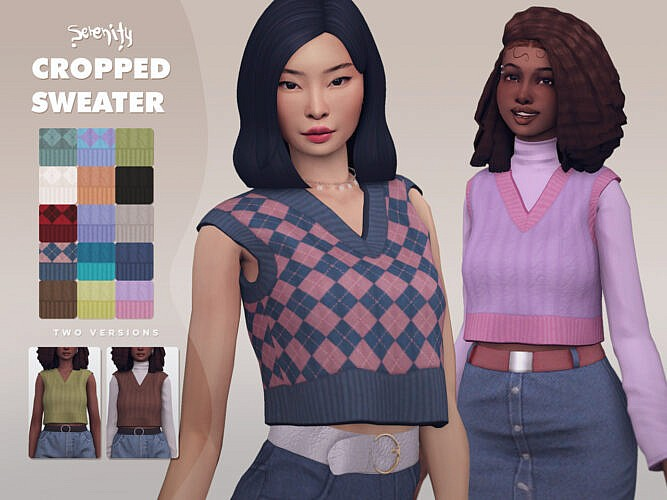 Cropped Sweater (two Versions)