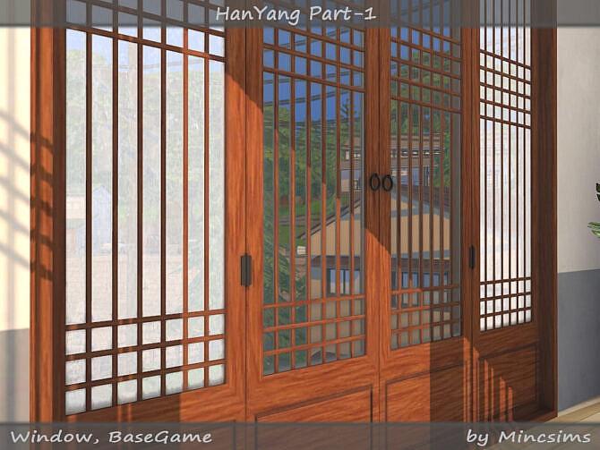 Sims 4 HanYang traditional Korean windows & doors Part 01 at TSR