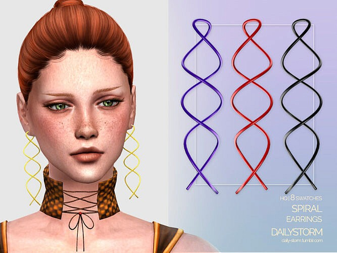 Spiral Earrings By Dailystorm