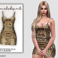 Leopard Print Mini Dress Mc170 By Mermaladesimtr