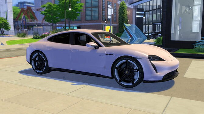 Sims 4 2020 Porsche Taycan Turbo S at Modern Crafter CC