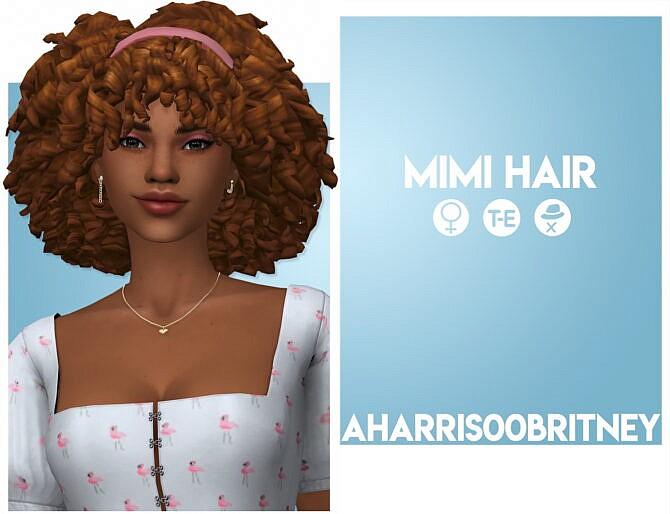 Sims 4 Mimi Hair at AHarris00Britney