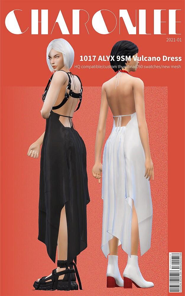 Sims 4 Vulcano Dress at Charonlee