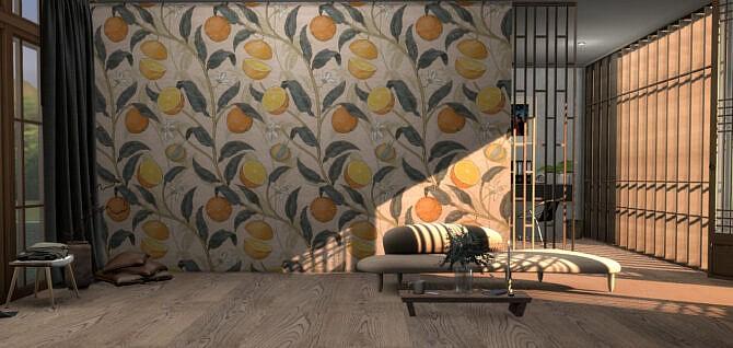 Sims 4 Blooming Wild wall murals at Tilly Tiger