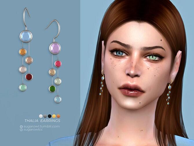 Sims 4 Thalia earrings by sugar owl at TSR