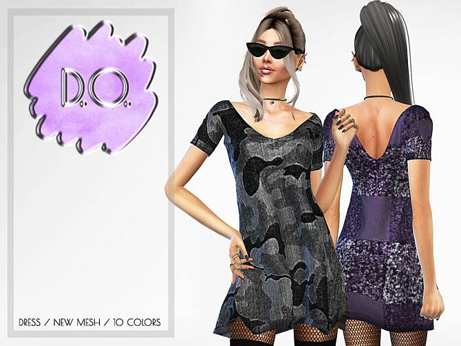 Sims 4 Dress 58 by D.O.Lilac at TSR