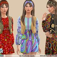 Retro Hippie Dress By Ekinege
