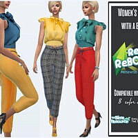 Retro Women's Pants With A Bow By Sims House