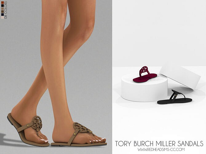 Sims 4 SANDALS by Thiago Mitchell at REDHEADSIMS