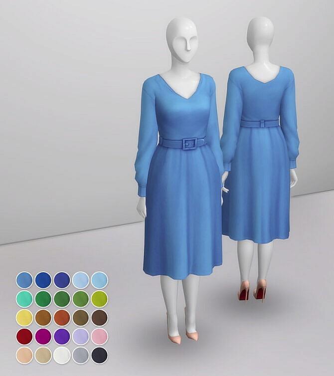 Sims 4 Duchess of Dress IX at Rusty Nail