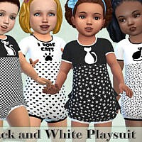 Black And White Playsuit Toddlers By Pelineldis