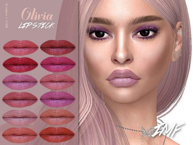 Sims 4 IMF Olivia Lipstick N.326 by IzzieMcFire at TSR