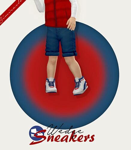 Wedge Sneakers Toddler Version