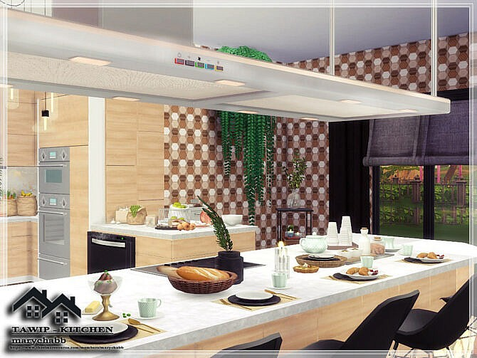 Sims 4 TAWIP KITCHEN by marychabb at TSR