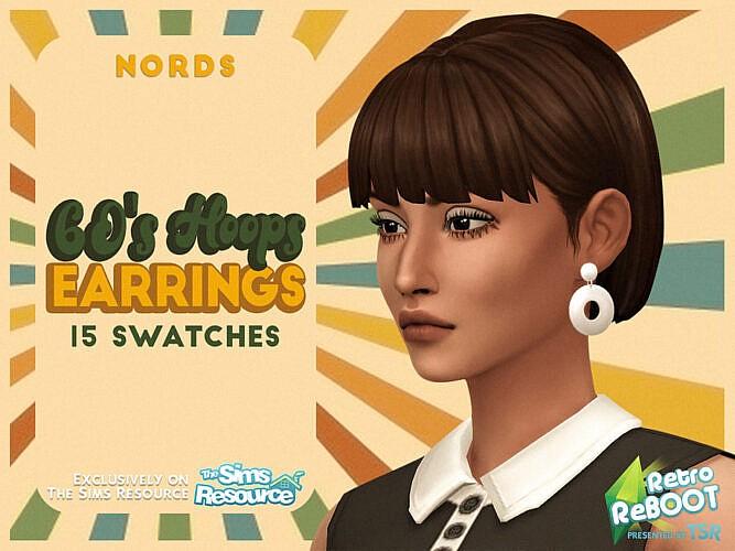 Retro 60's Hoops Earrings By Nords