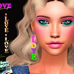 Retro Love Earrings By Suzue