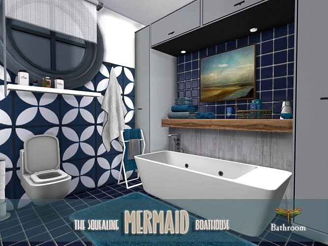 The Squealing Mermaid Boathouse Bathroom By Fredbrenny