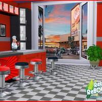 Retro 50's Diner Mural 2 By Seimar8