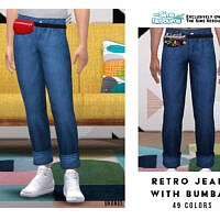 Retro Jeans With Bumbag By Oranostr