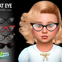 Retro Cateye Toddler Glasses By Suzue