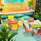 Vintage Dining Set In Two Palettes