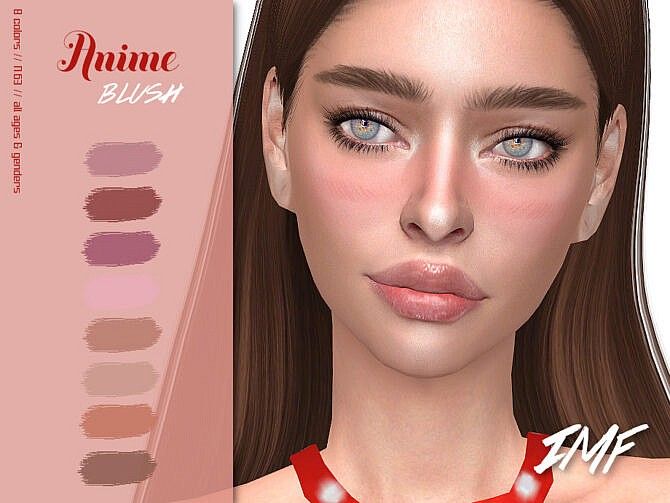 Sims 4 IMF Anime Blush N.63 by IzzieMcFire at TSR