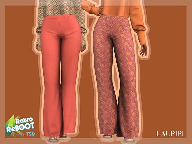 Sims 4 Retro Pants R1 by laupipi at TSR