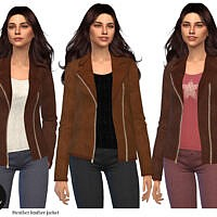 Heather Leather Jacket By Lucy Muni