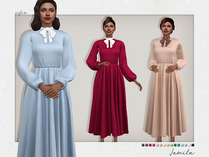 Sims 4 Jamila Dress by Sifix at TSR