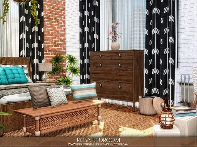 Sims 4 Rosa Bedroom by MychQQQ at TSR