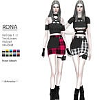 Rona Mini Skirt By Helsoseira
