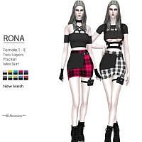 Rona Mini Skirt By Helsoseira