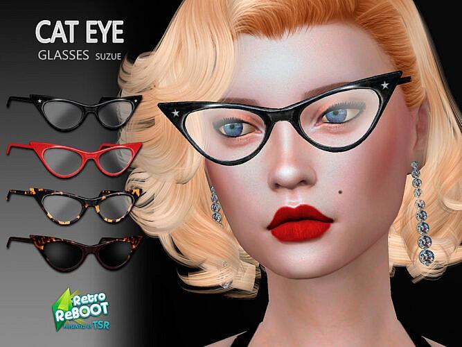 Retro Cateye Glasses By Suzue