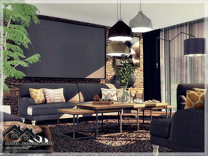 Sims 4 TAWIP Living Room by marychabb at TSR